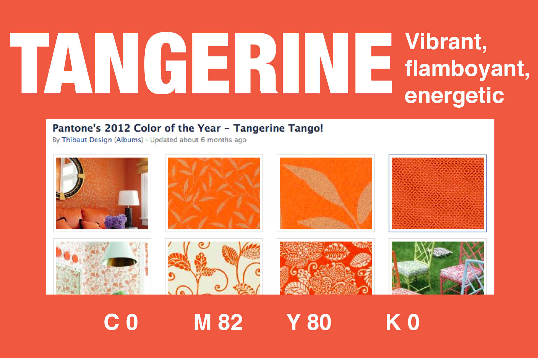 The color of the day is TANGERINE